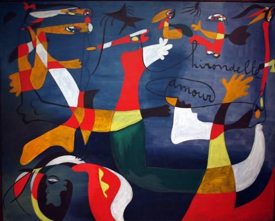 Joan Miró,《Hirondelle amour》。圖/取自flickr。