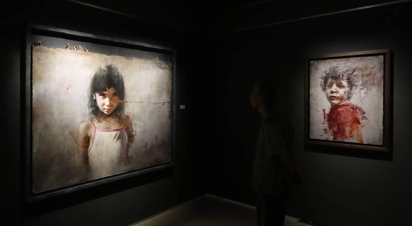 藝術家羅展鵬作品。圖/非池中藝術網攝。