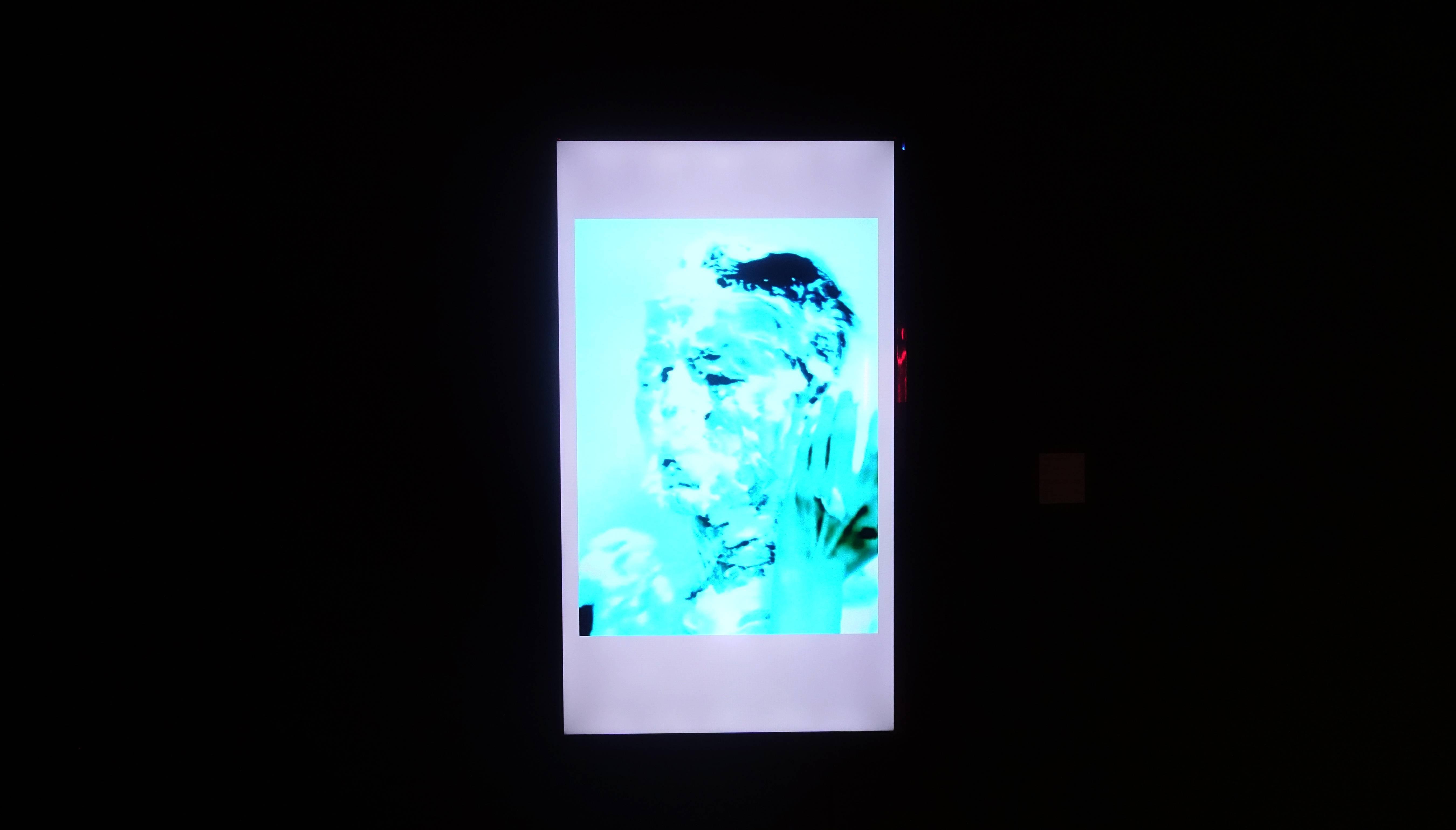 黃盟欽,《自畫像》,錄像、依展覽空間而定。圖/非池中藝術網攝。