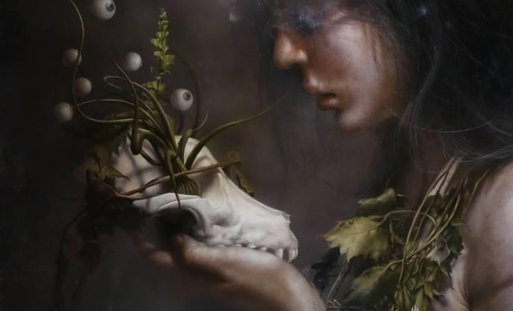 羅展鵬,《鬱鬱蔥蔥的生命》,油彩畫布。圖/非池中藝術網攝。