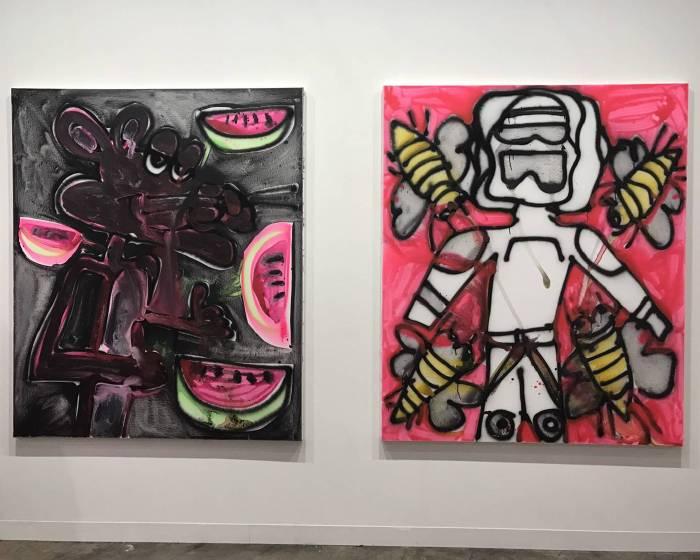 2018香港巴塞爾藝博會 「我是你的冰淇淋!」繪畫作品亮點(五)- 凱薩琳.伯恩哈特 Katherine Bernhardt