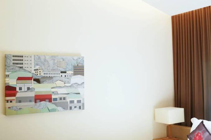 黃法誠 這城市過於正面思考No.9 壓克力顏料.畫布《展示於 松風 203房》