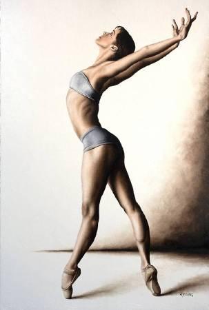 英國╱Richard Young《Composure》Oil on Canvas 61×91cm 2017