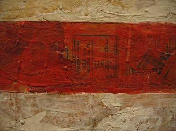 Jasper Johns, Detail of Flag , 1961。圖/取自Wikipedia。