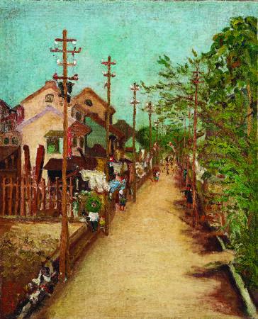 陳澄波 嘉義街外(二) 1927 油彩畫布 65×53.4cm