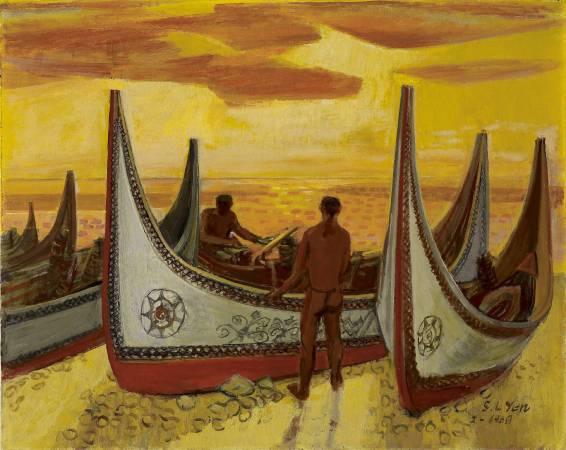 顏水龍 蘭嶼 1968 油彩畫布 72.5×91cm