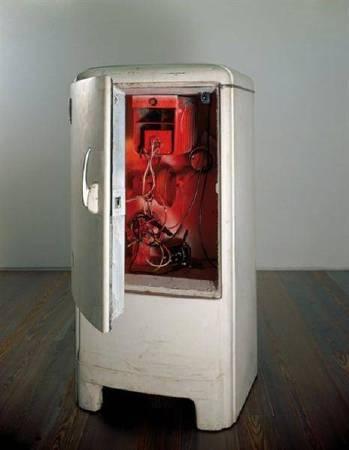 尚‧丁格利《Frigo Duchamp》,1960。圖/取自Wikiart。