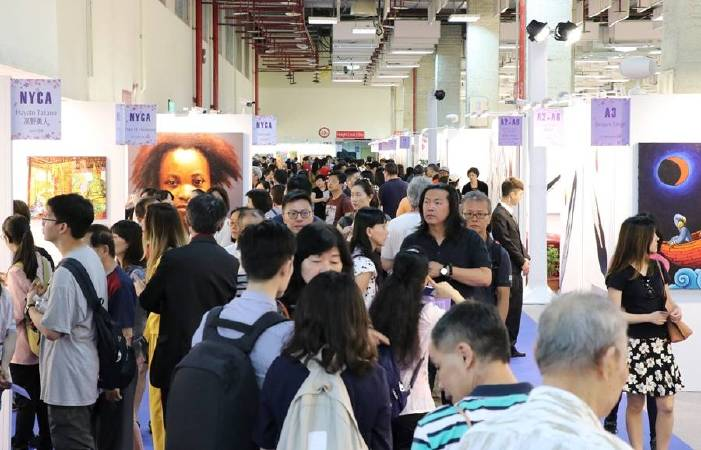 第八屆台北新藝術博覽會21日晚間圓滿閉幕,成交率達92.56%。