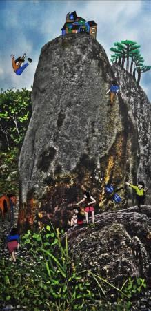 盧俊翰,《石頭山水 場景一》。