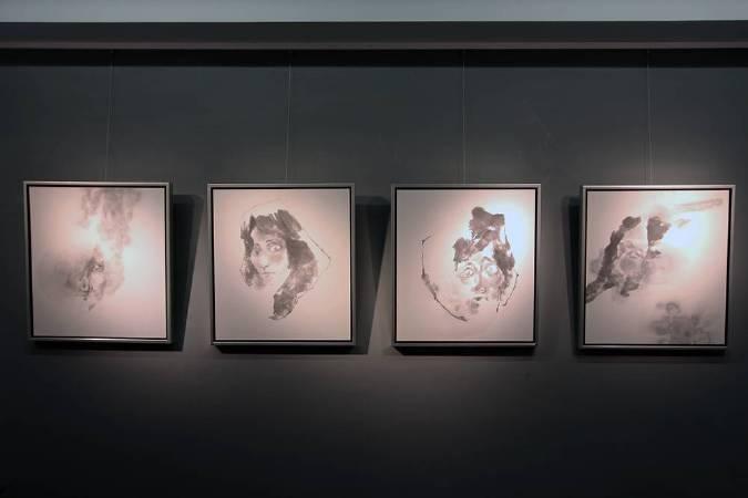 黃郁筑,《(左起)姿態6、2、3、5》,2015