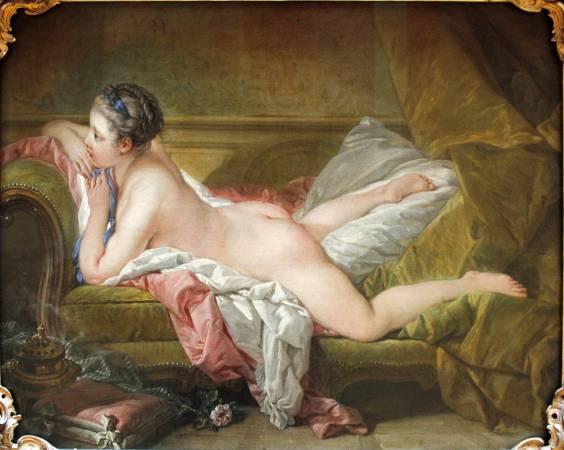 布雪《休憩的少女》(Resting Girl),1751。圖/取自Wikipedia。