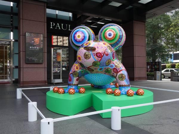 台中新光三越水舞廣場 金錢蛙 鋼板烤漆 220x214x165cm