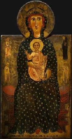 《王座上的聖母子像(局部)》,https://en.wikipedia.org/wiki/Margaritone_d%27Arezzo#/media/File:Margaritone.jpg