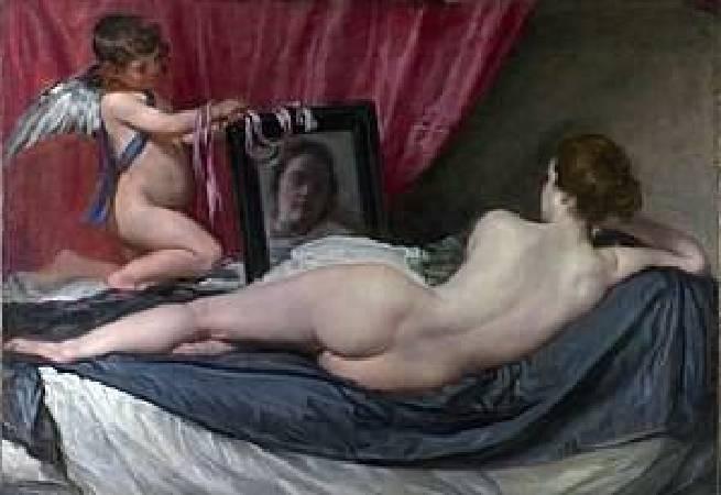 《鏡前的維納斯》, Diego Velázquez ,https://zh.wikipedia.org/wiki/%E9%95%9C%E5%89%8D%E7%9A%84%E7%BB%B4%E7%BA%B3%E6%96%AF#/media/File:RokebyVenus.jpg