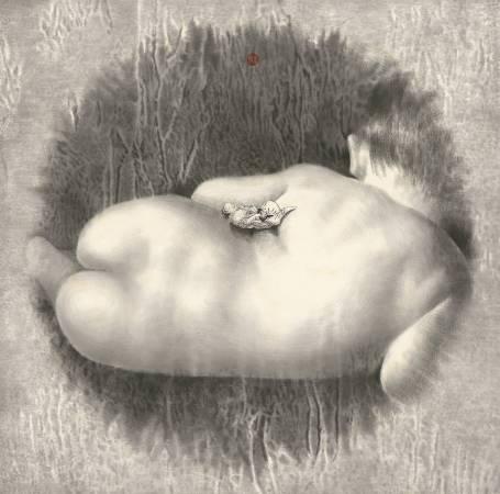 徐嘉霠Hsu, Jia Yin - 夢周公 ( 2017  水墨 宣紙  82x82cm ) ( 心動藝術空間 Art Influence )