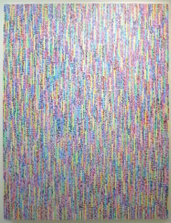 莊普  直斜水清 200 x 150cm  壓克力顏料、畫布  2000