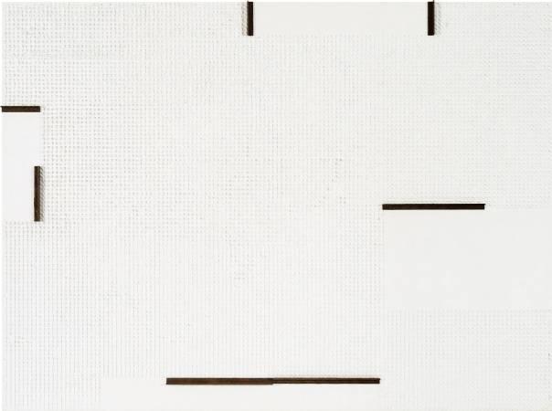 莊普 喚醒的白  97x130cm 紙、畫布、鋁製品 2016