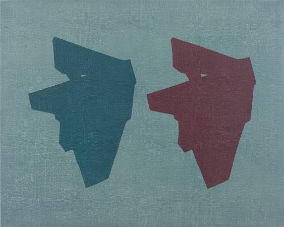 吳東龍 Symbol101  120x150cm 油彩.畫布板    2016