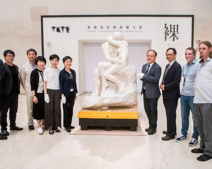羅丹The Kiss大理石版經典巨作現身 公私部門歡欣攜手推動「裸:泰德美術館典藏大展」