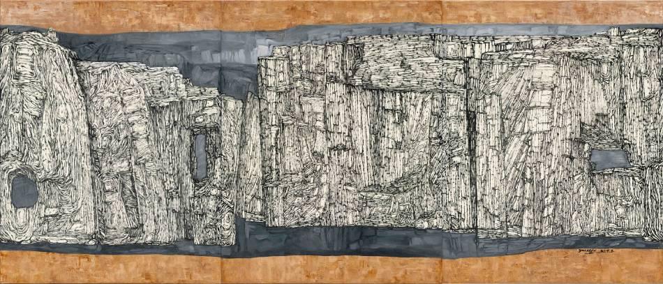 歲嶽 Rock'n Time No.5 | 油畫 Oil on Canvas |  116.5 x 273 cm 150號F |  2017