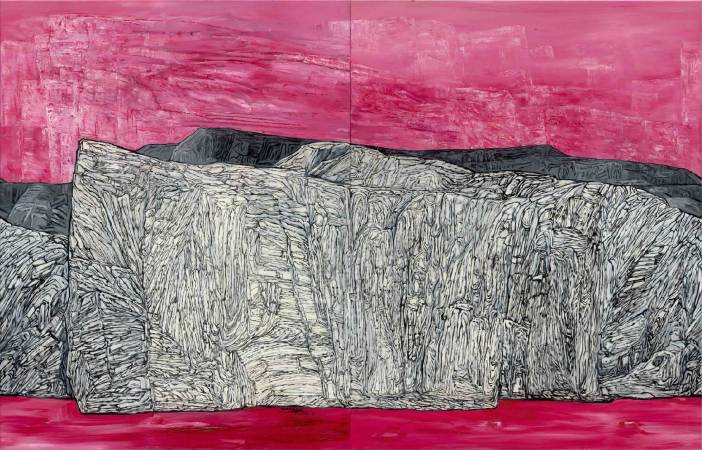 歲嶽 Rock'n Time No.2 | 油畫 Oil on Canvas |  116.5 x 182 cm 100號F |  2017