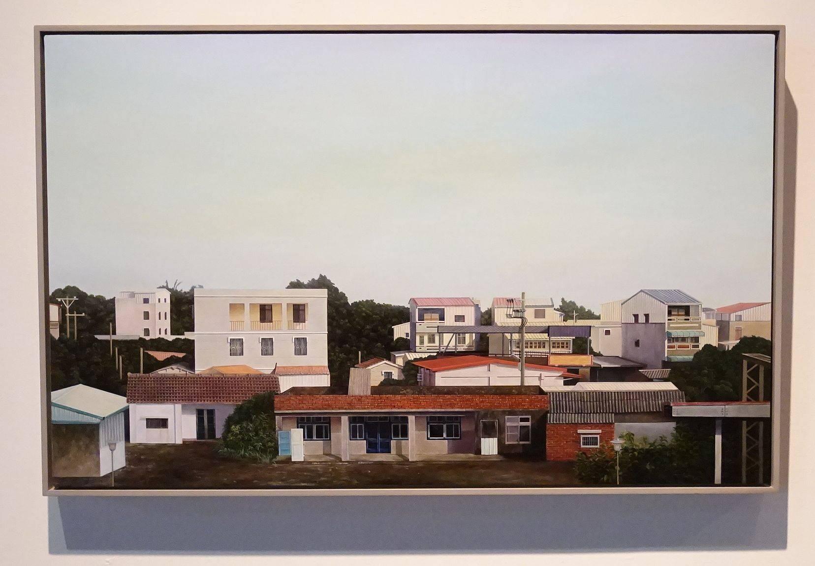楊奕軒,〈無聲喧囂〉,2017,油彩、畫布,72.5×116.5cm。