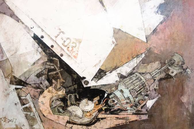 黃輝坪作品《蛻變T0-3》。