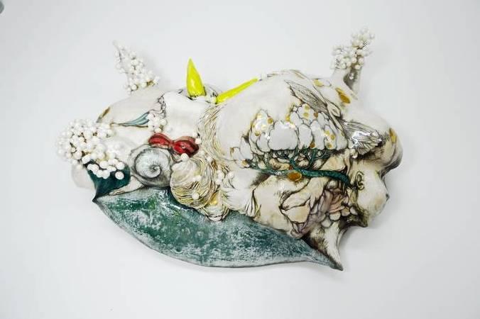陳芍伊|花絲鬈|陶瓷|50x36x18cm|2018