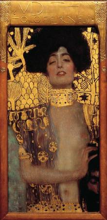 Gustav Klimt,《Judith and the Head of Holofernes》,1901。圖/取自Wikimedia。