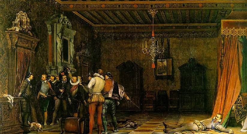 Paul Delaroche,《The Assassination of the Duke of Guise in the Château de Blois in 1588》,1834。圖/取自wikiart。