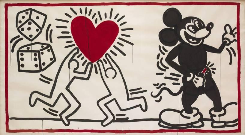 凱斯•哈林《Untitled》,1982,Courtesy of The Brant Foundation, Greenwich, Connecticut, USA © The Keith Haring Foundation。圖/The Albertina Museum提供。