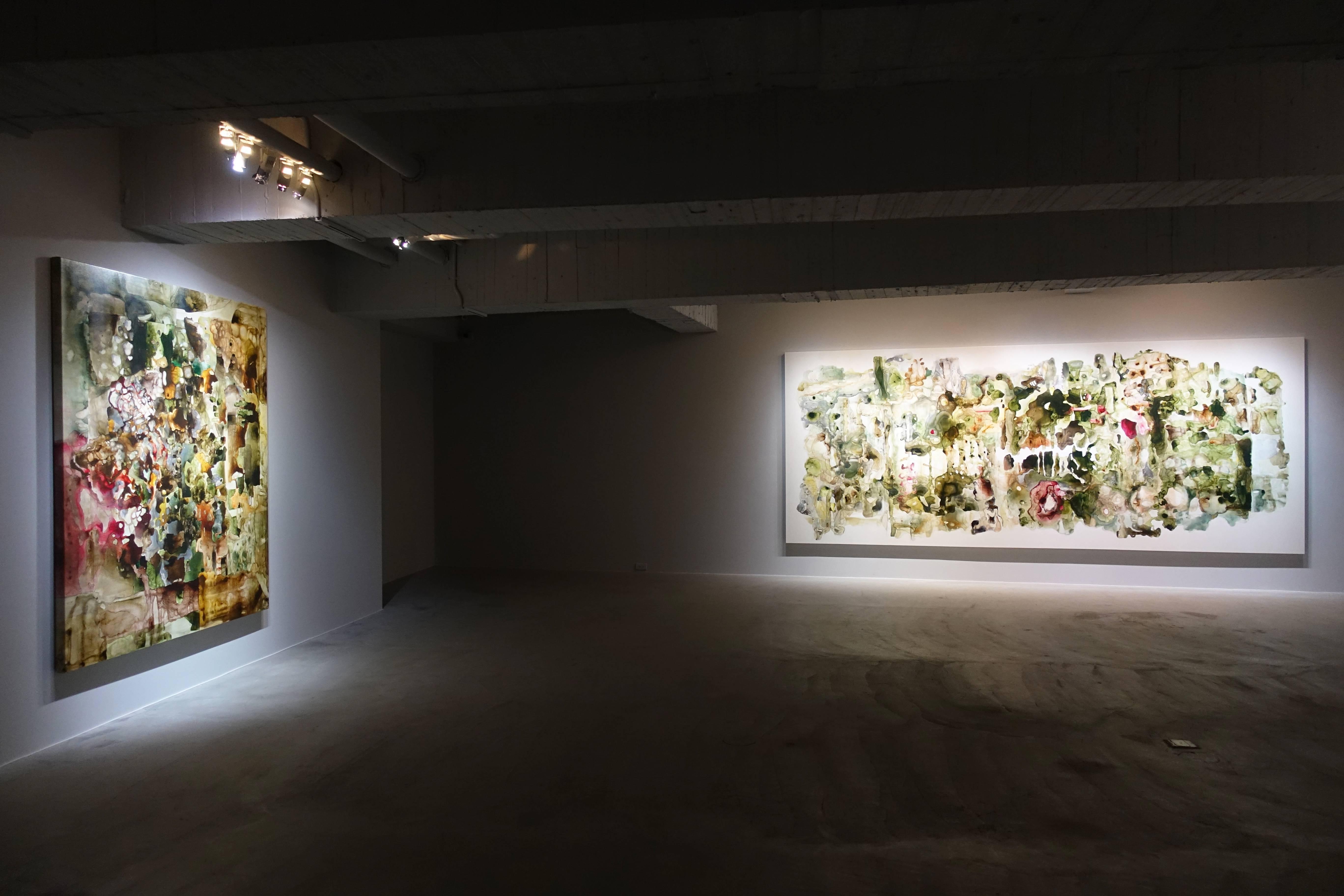 安卓藝術展場一景。圖/譚竣鴻攝。