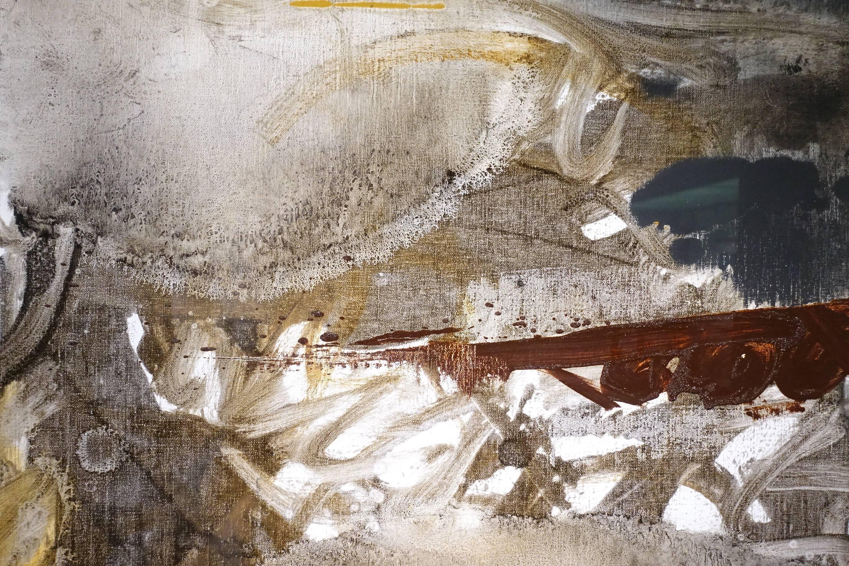 葉竹盛,改變32(局部),油彩、畫布,2015年。