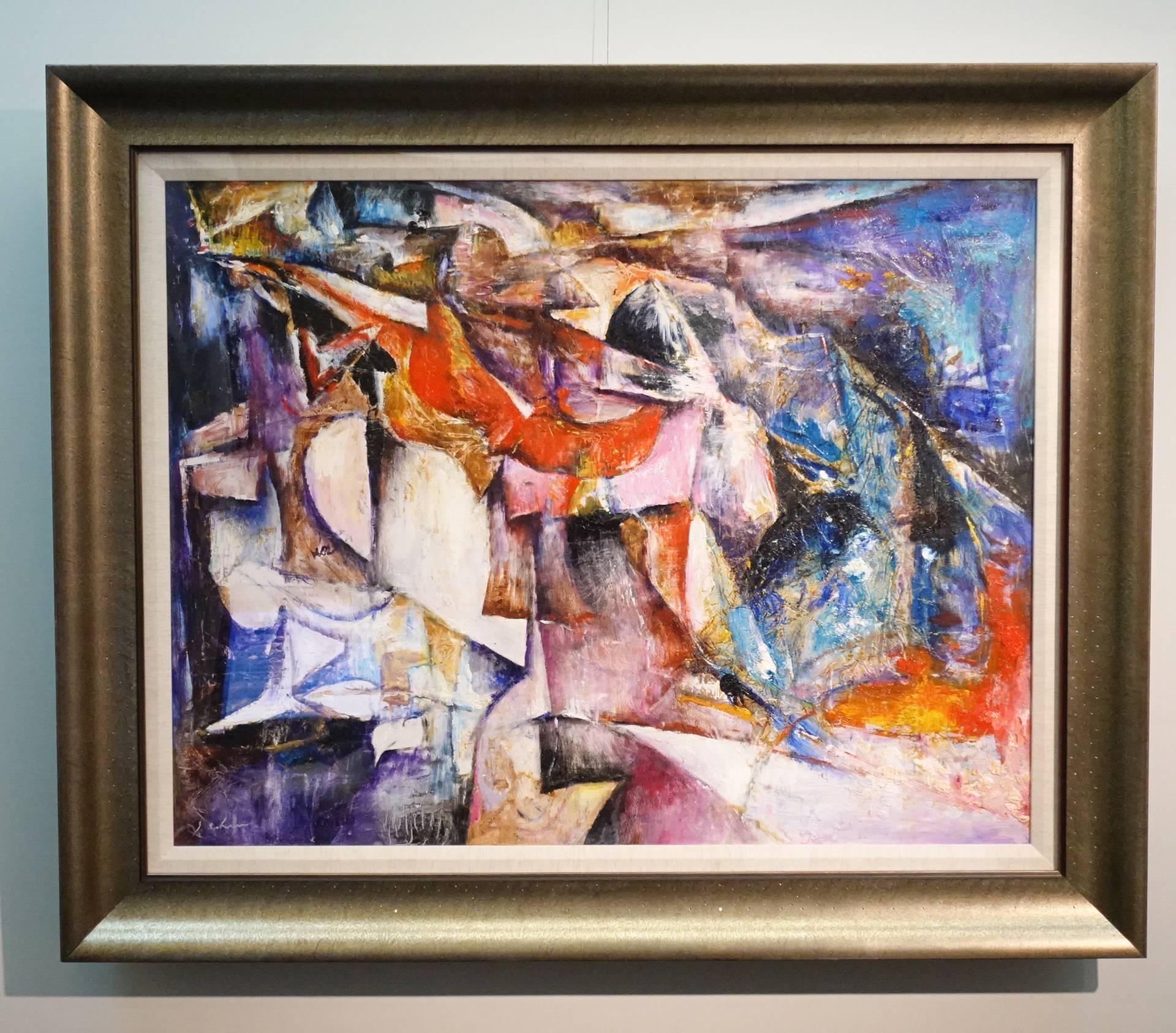 陳家榮,紅色中提琴,油彩、畫布,1993年。