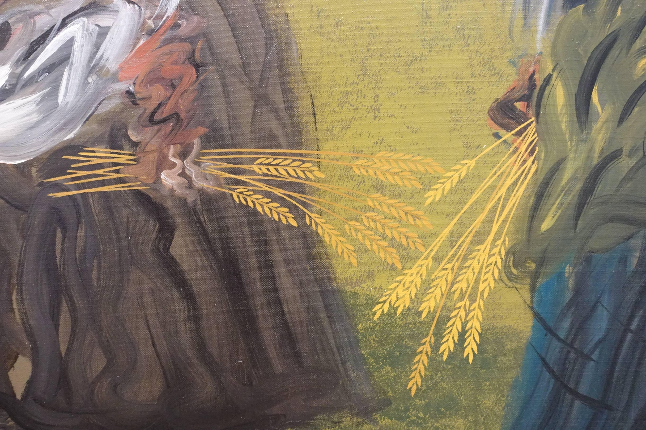 夏陽,拾穗(局部),1998年。