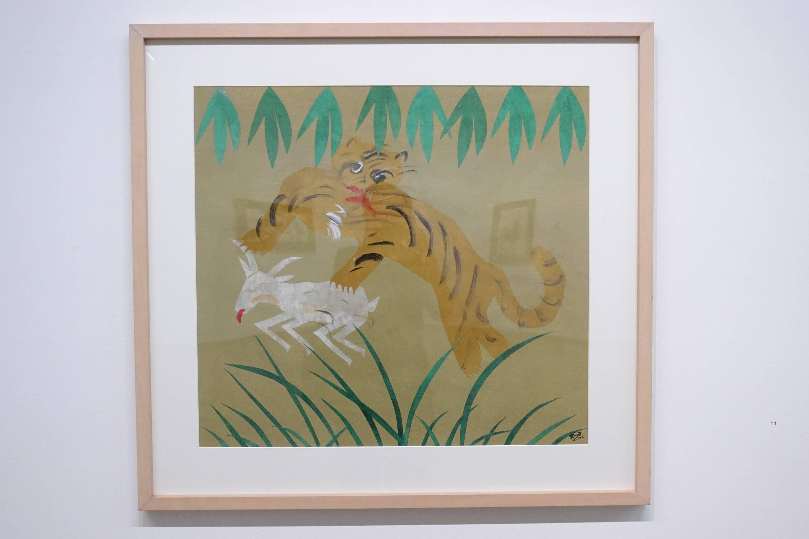 夏陽,餓虎撲羊,2003年。