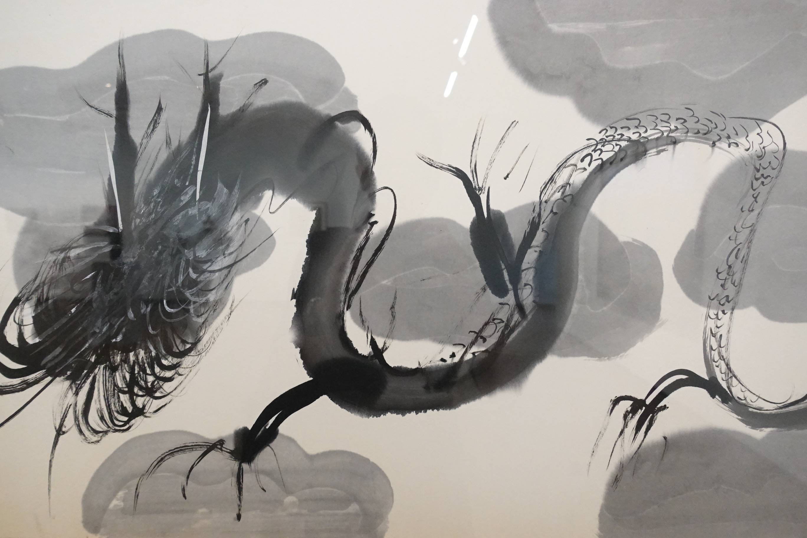 夏陽,雲從龍(局部),1991年,