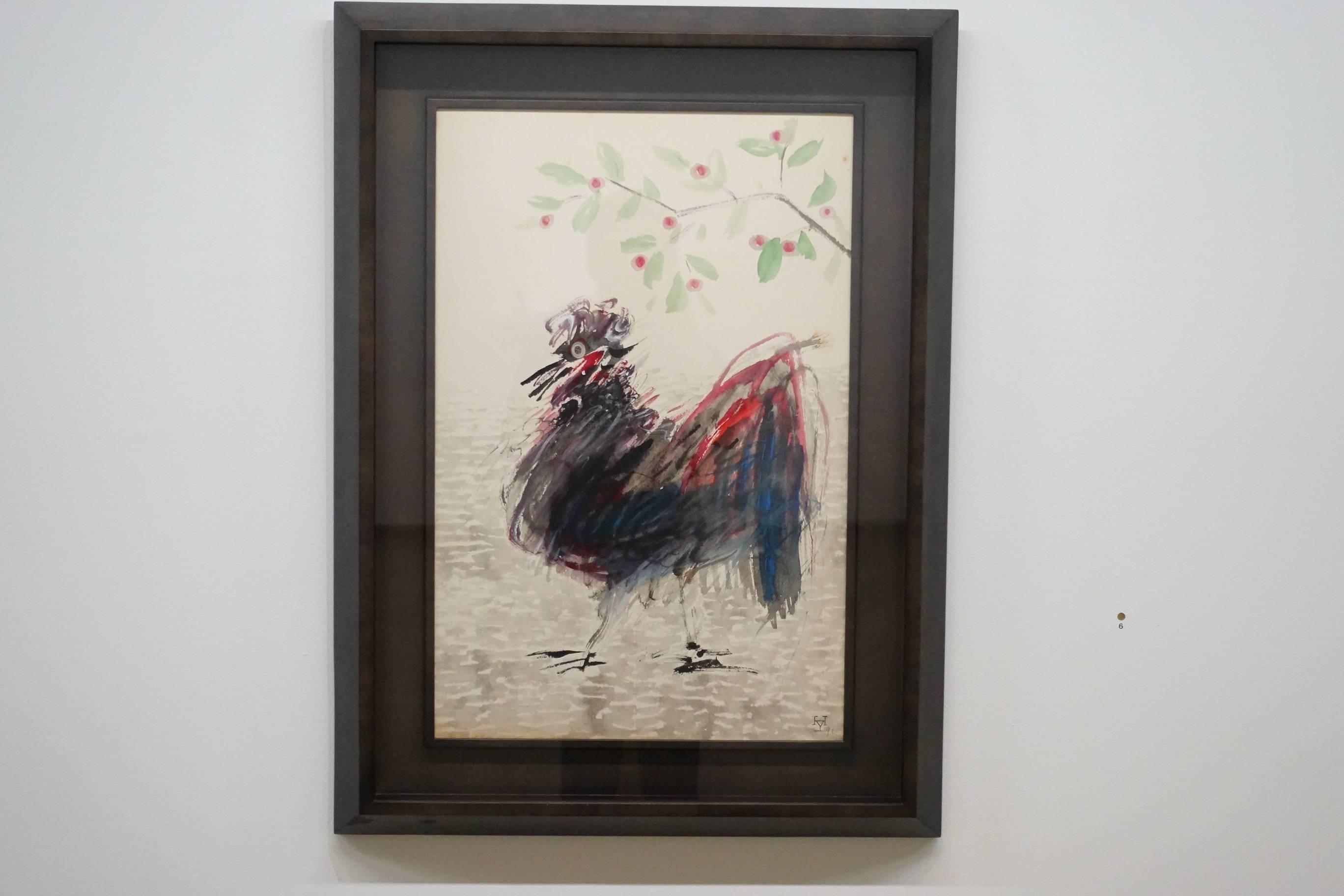 夏陽,雞和花,1992年。