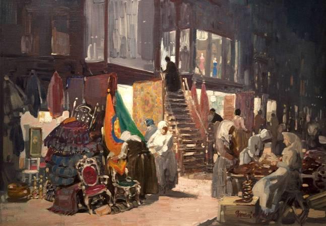 盧卡斯,《Allen Street》,1905年。圖/取自Wikipedia。