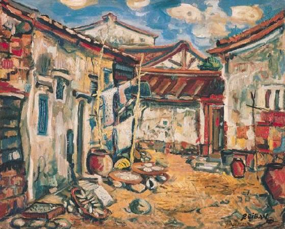 鄭世璠,《後街》,1941年。圖/取自台北市立美術館