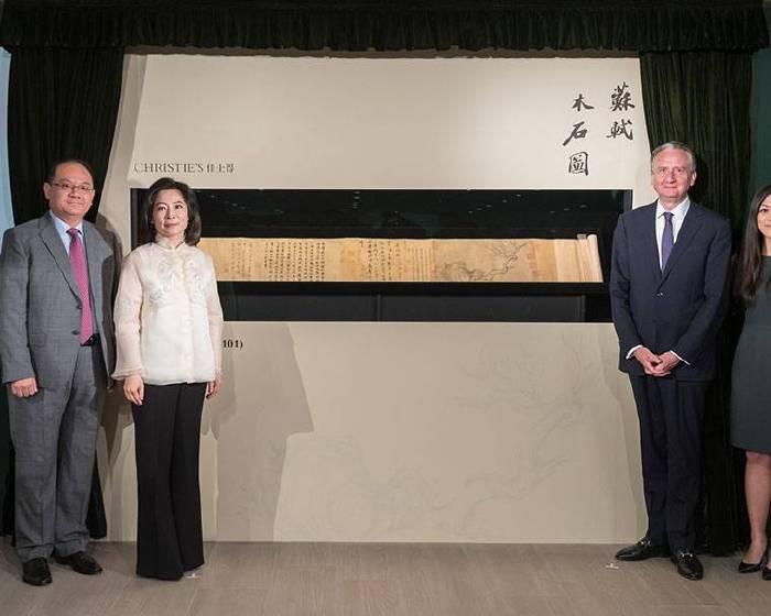 流入東瀛百年 15億台幣蘇軾 「木石圖」11月上拍