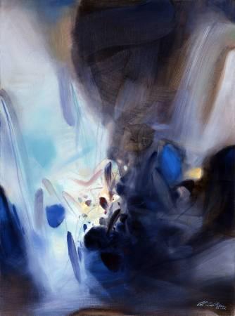 朱德群 超乎想像 1993-1994 油彩 130 x 97 cm (60F)