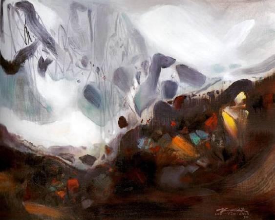 朱德群 拂曉 1998 油彩 80 x 65 cm (25F)