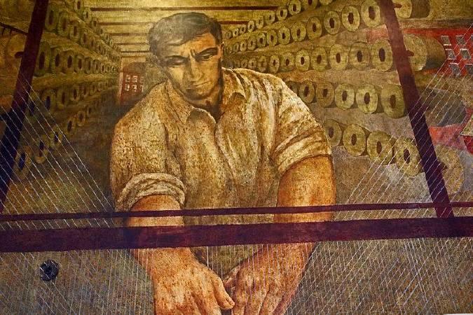 Ben Shahn,《Mural in Bronx Post Office from WPA era》。圖/取自wikimedia