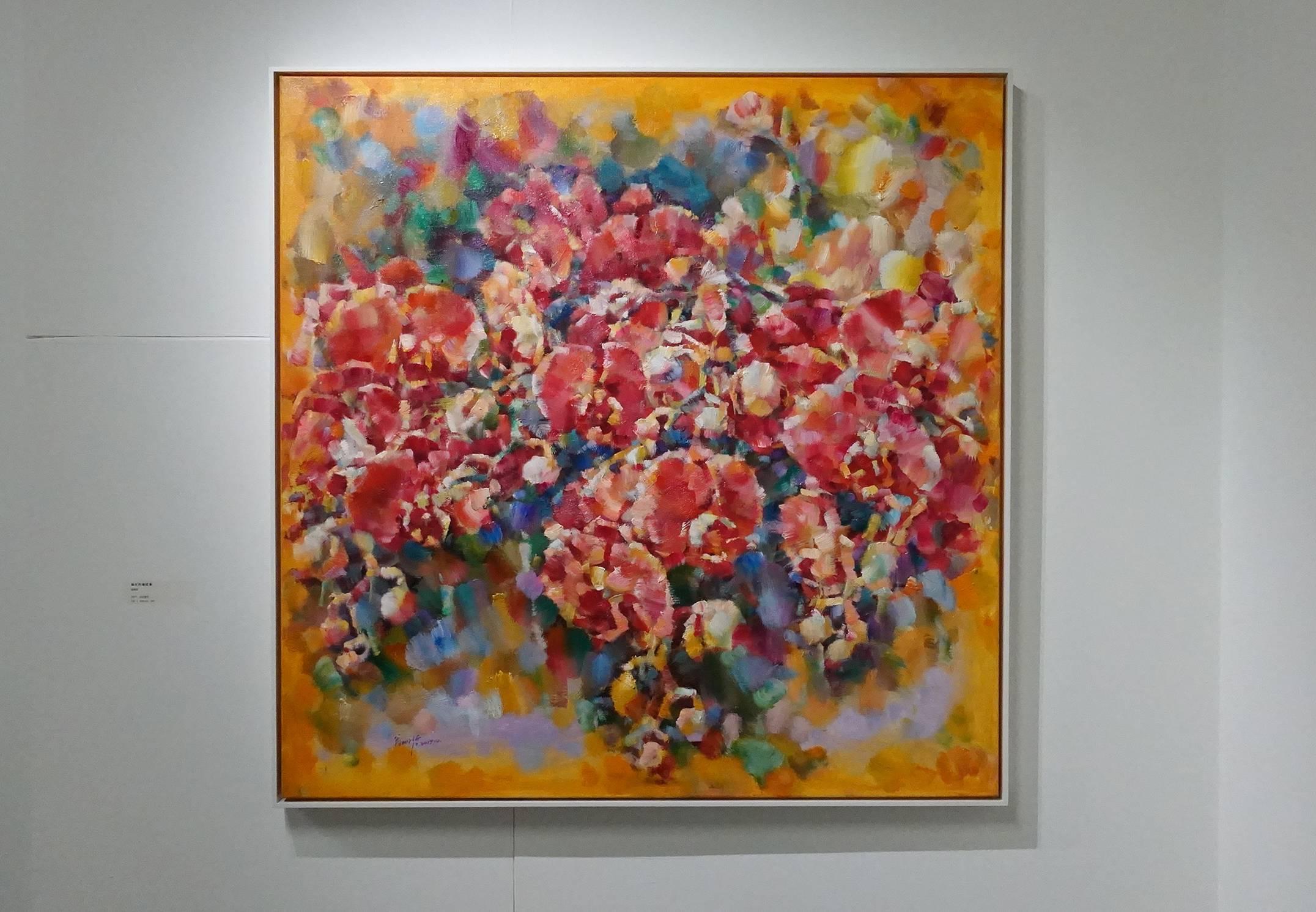 翁明哲作品《融化的蝴蝶蘭》,2017年。