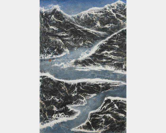 劉國松-山不轉水轉