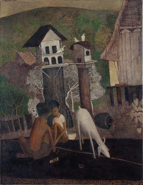 鍾泗濱-馬來男孩與山羊