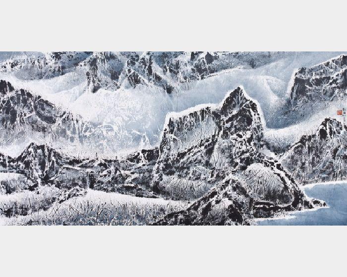 劉國松-西藏組曲山圍繞一山高