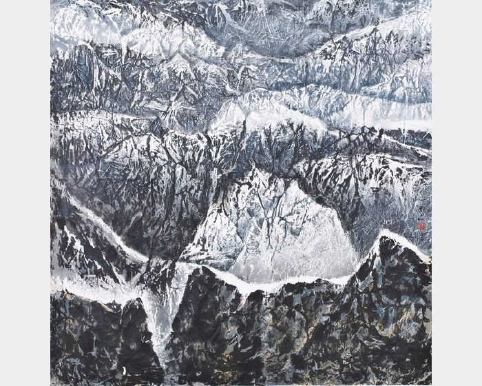 劉國松-西藏組曲群嶺頂峰秘境圖