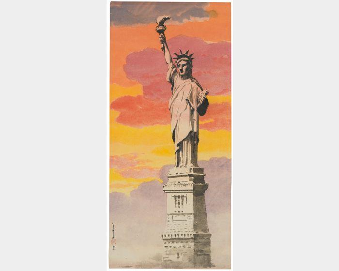 馬白水-自由女神像